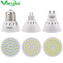 1PCS E27 MR16 GU10 LED Bulb Lampada 220V Bombillas LED Spotlight 36/54/72LEDS SMD 2835 Energy Saving Spot LED Lamp