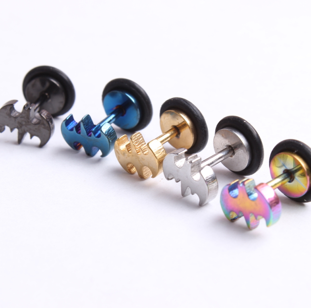 Hot S Batman Cheater Ear Plug With O Ring For Body Jewelry Man Woman Earring Stud Helix Barbell In Earrings From Accessories On