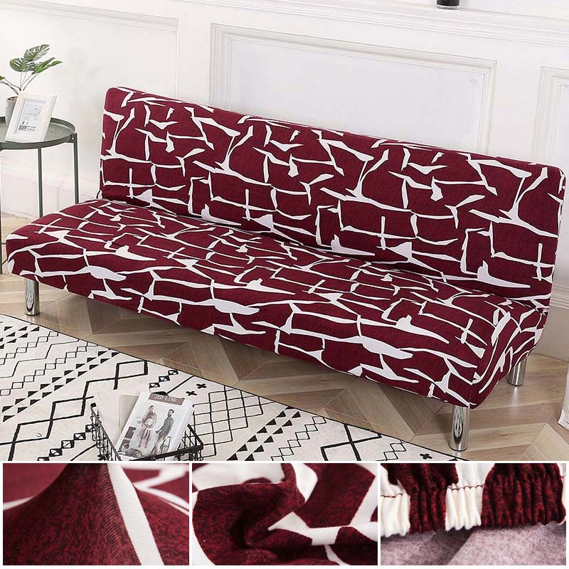 Spandex Sofa Cover Without Armrest Folding Sofa Bed Cover Elastic Couch Cover Sofa Slipcovers For Living Room Modern Decor