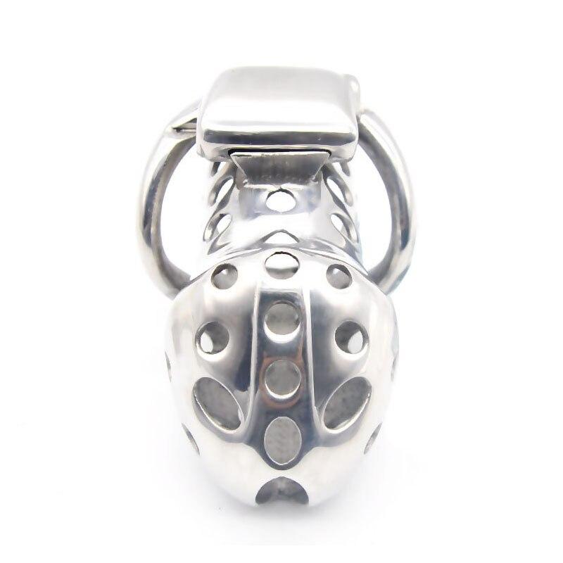 Cage de chasteté électro acier inoxydable civière de balle coq Cage serrure pénis dispositif de chasteté Scrotum civière anneaux pour hommes