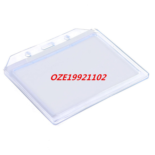 US $6 68 |Clear Blue Horizontal Designed A7 ID Name Badge Work Card  Holders-in Card Holder & Note Holder from Office & School Supplies on