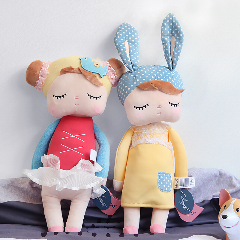 Metoo Doll Stuffed Toys Plush Animals Soft Kids Baby Toys for Girls Children Boys Birthday Gift Kawaii Cartoon Hot Angela Rabbit wvw cartoon stitch soft stuffed animals toy baby doll toys for girls children birthday gift mini stuffed animals cute plush toy page 1
