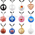 12 Styles Colorful Bell Chime Bola Pendant Ball Harmony Mexico Bola Ball Baby Custom Jewelry Angel Caller Sounds Bola Men Joyas