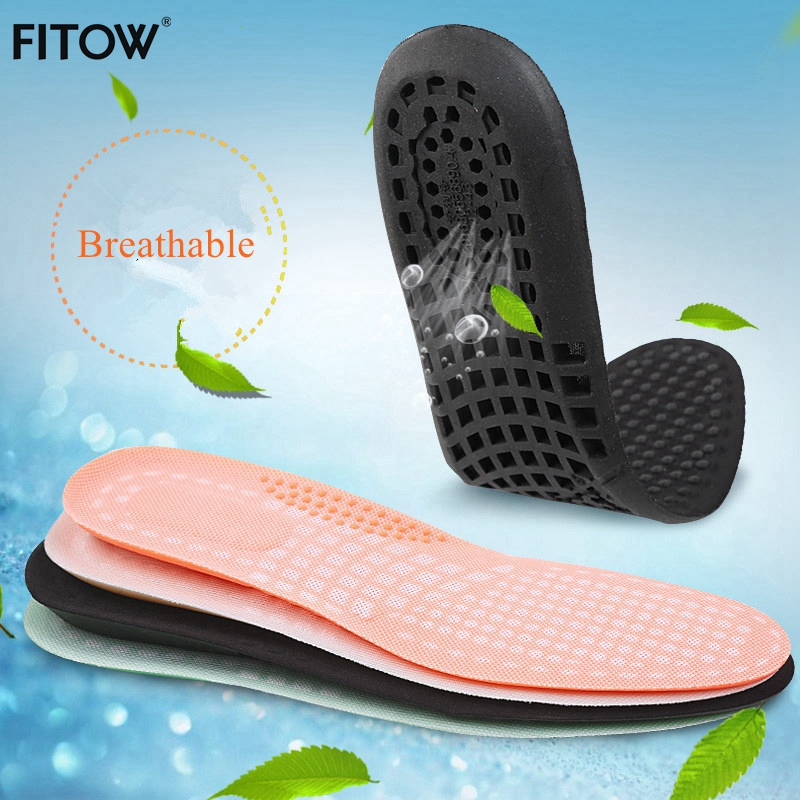 4 Color Uinsex Stretch Breathable Deodorant Shoe Running Cushion Insoles Massage Insoles Pad Insert Size from 34-43 expfoot orthotic arch support shoe pad orthopedic insoles pu insoles for shoes breathable foot pads massage sport insole 045