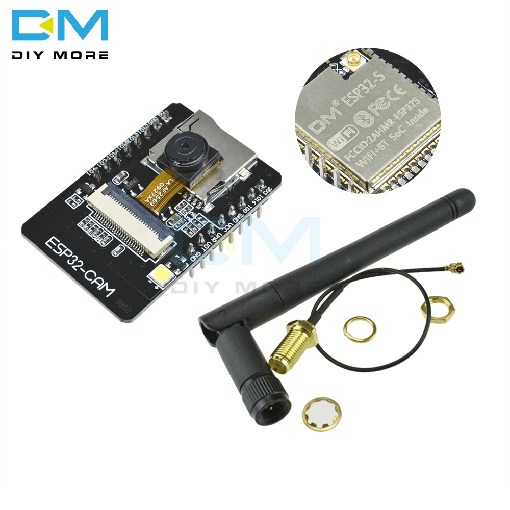 OV2640 ESP32-CAM Bluetooth Module Camera Development Board ESP32 OV7670 +2.4G Wireless SMA Antenna NRF24L01 2dB Gain+PA CC2500