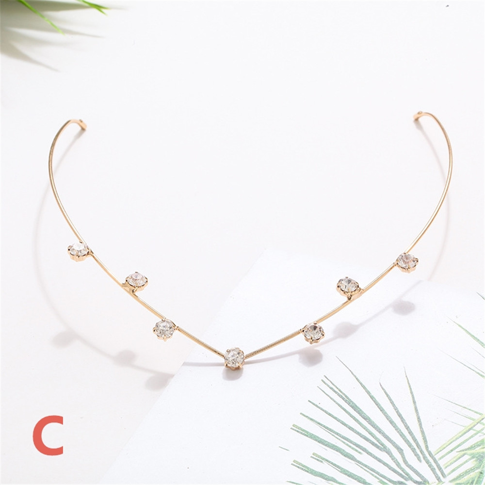 Crystal Alloy Hairpin Lovely Hairclip Sweet Headbands Back Holder Women Fashion Hair Hoop Diamonds Hair Styling Accessories