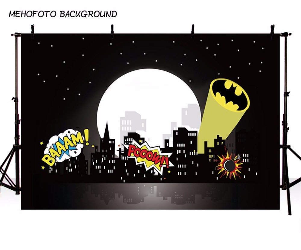 MEHOFOTO 7x5FT Vinyl Children Photography Backdrops Custom Superhero Theme Party Photo Background Cloth 220x150cm sensfun where the wild things are dessert table backdrops custom photo studio backdrop background vinyl 7x5ft