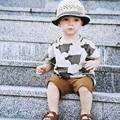 2017 Европа гиппопотам мальчики активные наборы шорты мальчик одежды мультфильм лето костюмы короткий рукав футболки + дети брюки комплект одежды