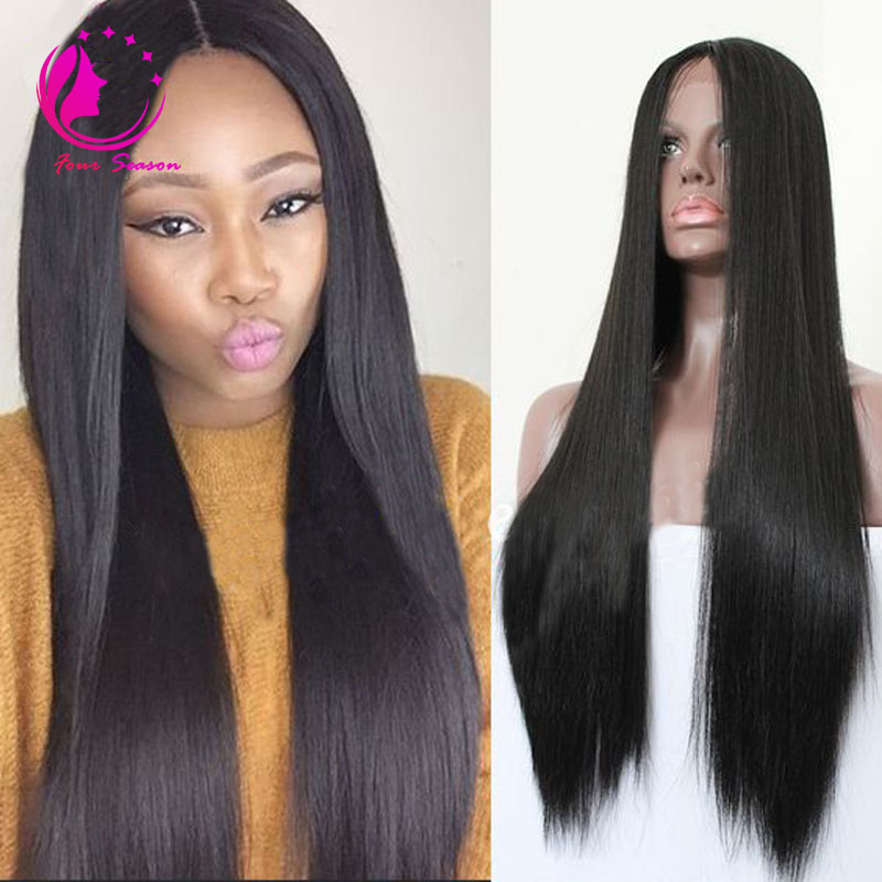 Beauty Peruvian Straight Lace Front Wig 30 Inch Human Hair