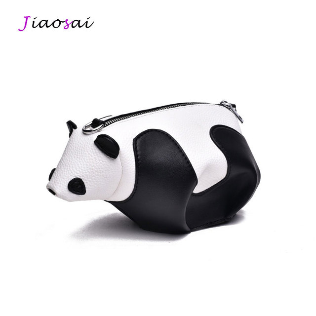 47ef01fc565c 2019 New Brands Designer High Quality 3D Cute Women Panda Bag Unique  Messenger Bag Ladies Clamp Fashion PU Leather Shoulder Bags