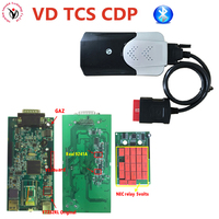 DHL Real 9241A chip! V3.0 PCB Green Board 2016R0/2015R3 Vci VD TCS CDP Bluetooth Auto Scanner OBDII/OBD Diag Tool for car&Truck