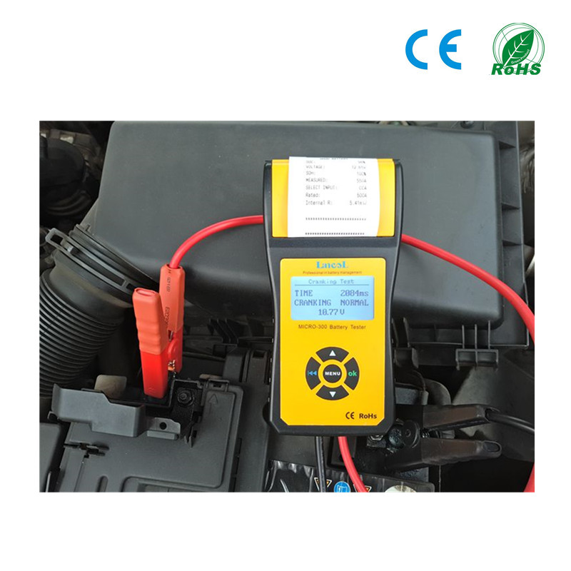 Image 5 - MICRO 300 Professional Lancol Diagnostic Tool battery Tester Analyzer CCA Battery Tester With Printer 200ah Internal Resistance-in Battery Measurement Units from Automobiles & Motorcycles on