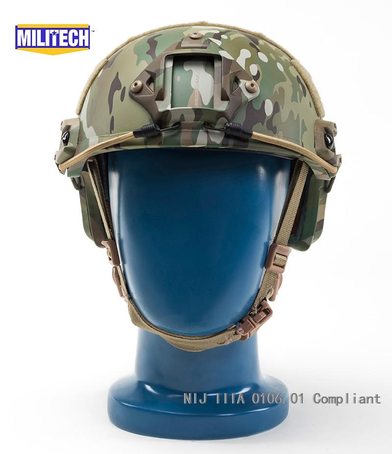 Arbeitsplatz Sicherheit Liefert Iso Zertifiziert Militech Aor2 Occ Zifferblatt Nij Level Iiia 3a Schnelle High Cut Kugelsichere Aramid Ballistischen Helm Mit 5 Jahre Garantie