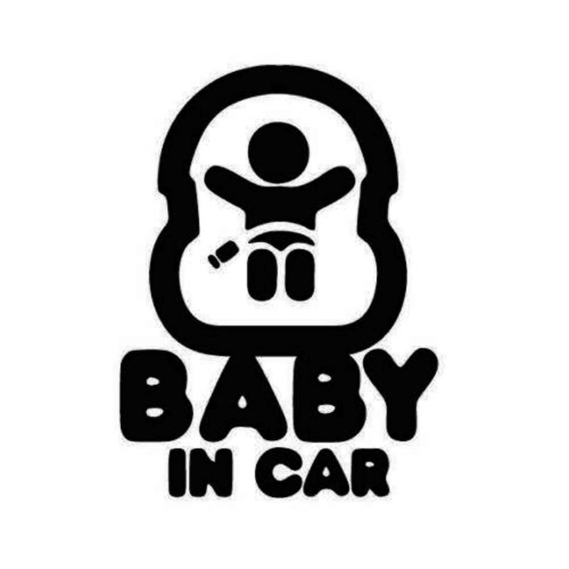 9.4CM*12.3CM Baby In Car Child On Board Baby Seat Sticker Vinyl Decal Car Stickers Car Styling For Acessories Decoration