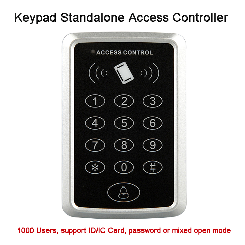 Smart 125KHZ RFID ID card access controller Plastic keypad door access control panel ID card reader, 13.56Mhz IC Card Optional