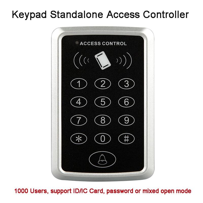 все цены на  Smart 125KHZ RFID ID card access controller Plastic keypad door access control panel ID card reader, 13.56Mhz IC Card Optional  онлайн