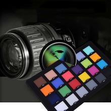 Новый Профессиональный Фотография Аксессуары Для Улучшенный Цифровой 24 Цвет Карты Тест Цветового Баланса Карты Палитра Совета T0.3