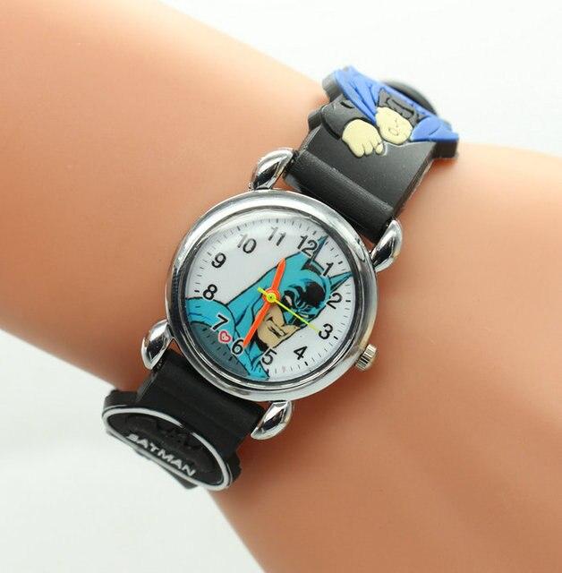 1 PCS New Arrival Batman Watch 3D cartoon Children's kid toys Quartz Watches Who