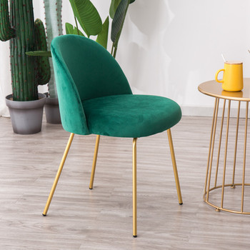 Free Shipping Trendy Golden Iron Metal Velvet Royals Dining Chair Dressing Coffee Living Room Hall Garden Study Princess Prince
