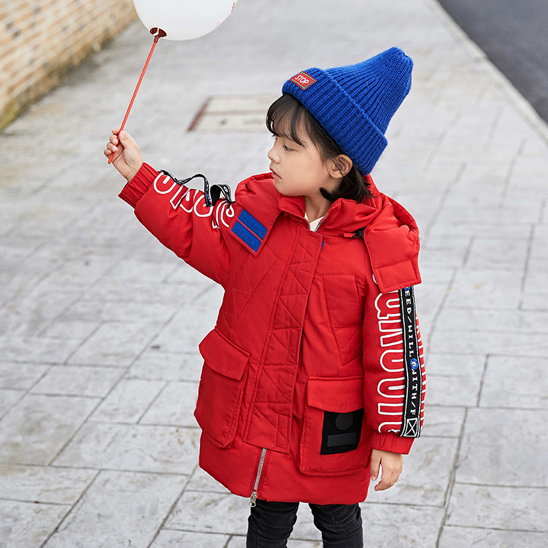 Winter Child 2018 new kids baby girl boy design Down Jacket Coat hooded parkas overcoat dress baby 3-6Y girl boy clothes outwear 2015 new girls design jacket luxury brand child outwear flower printed coat