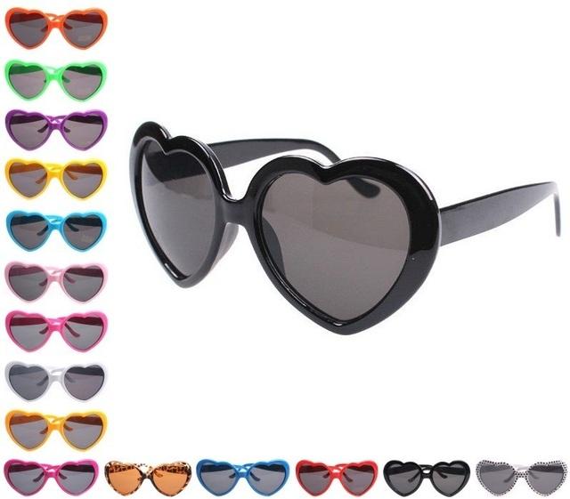 2015 Hot New moda pêssego coração óculos De Sol óculos óculos óculos óculos óculos De Sol Club Party Fun
