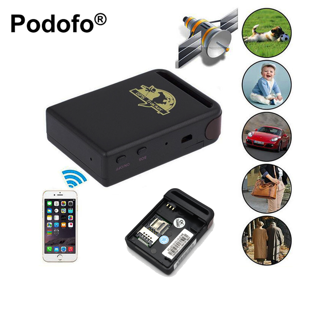 Podofo Remote Positioning Tracker Support Quad Band Stable font b GPS b font Tracker TK102B Vehicle
