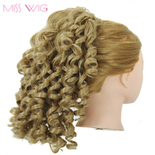 MISS WIG Synthetic Kinky Ponytails 3 Colors Available Hairpieces For American Black Women Fake Ponytail Drawstring Clip On Pony