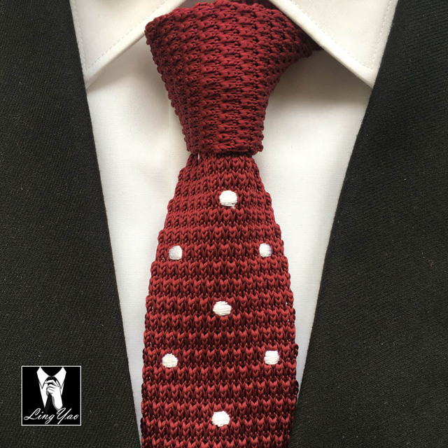 Hot Sale Young Men Knitted Ties Fashion Narrow Skinny Knitting Neckties for Men