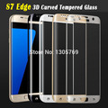 Wholesale 3D Curved Tempered Glass For Samsung Galaxy S7 Edge G935F Screen Protector 9H Film Protective 20pcs/lot