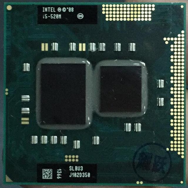 Intel Core i5-520M Bộ Vi Xử Lý i5 520 M CPU PGA988 CPU 100% làm việc đúng cách Bộ Vi Xử Lý