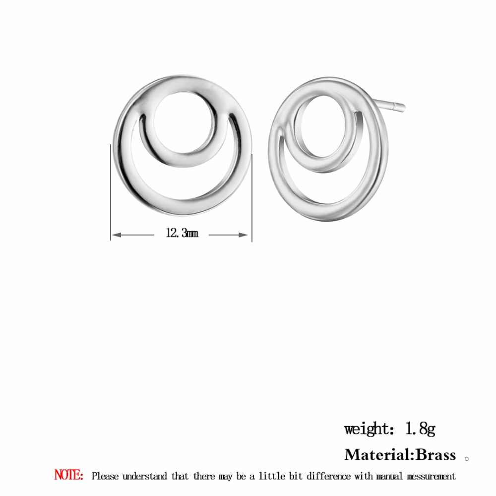 Kinitial טרנדי עגול עגילי גיאומטרי מעגל עגילי לולאה עגילי תכשיטי אופנה נשים ילדה פאנק bijoux brincos