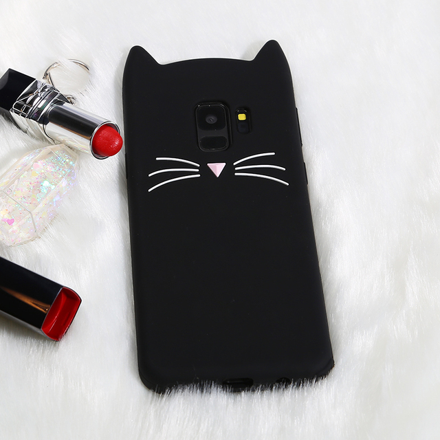 Cute Cat Silicone Soft Case For Samsung Galaxy Series phones