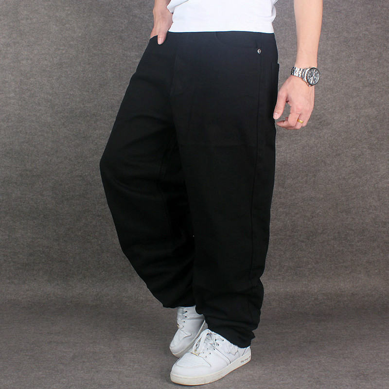 Aliexpress.com : Buy Hip Hop Baggy Jeans Black Mens Denim ...