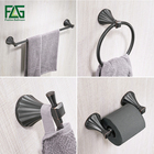 FLG Zinc-alloy Bathroom Accessories Set Single Towel Bar, Robe Hook, Paper Holder Oil Rubbed Bronze Bath Hardware Sets