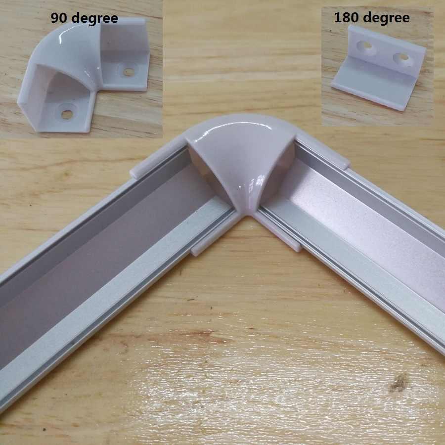0,5 м 1 угол led алюминий Профиль для 5050 5630 полосы светодиодов для освещения канала экструзии с крышкой продлить разъем