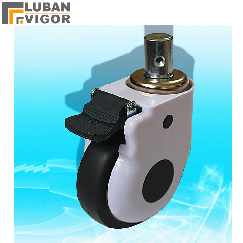5 inch,load 100kg, Medical casters/wheels With brake,TPR mute Wheel,medical equipment Cover wheel,For Hospital equipment