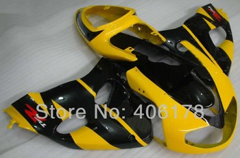 Cheap TL1000R 98-03 fairing set For TL 1000R 1998-2003 Yellow and Black Body Kits (Injection molding)