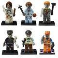 Zombie world 10 sets decool super heroes bloques de construcción bloques de construcción de figuras de acción ladrillos diy juguetes