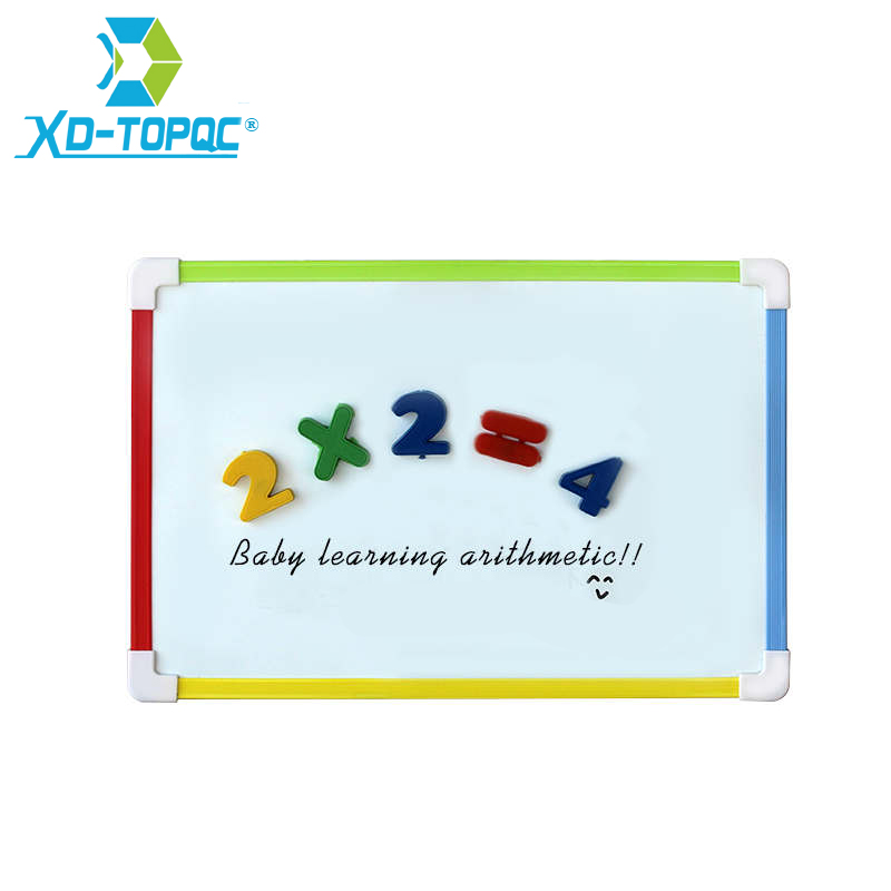 XINDI Kids Whiteboard Magnetic Dry Eraser White Board With Free Gifts Number Magnets For Preschool Children Memo Message Boards magnetic white black board eraser blue