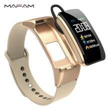 MAFAM B31 Smart Talk Wristband Band Bracelet Fitness Tracker Heart Rate Monitor Bluetooth Earphone For IOS Android