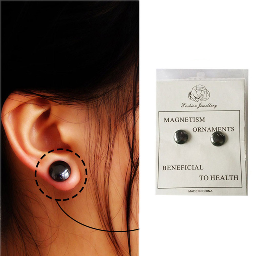 1 Pair Magnetic Slimming Earrings Lose Weight Magnetic Health Jewelry Acupoints Earring Magnetic Therapy #95071