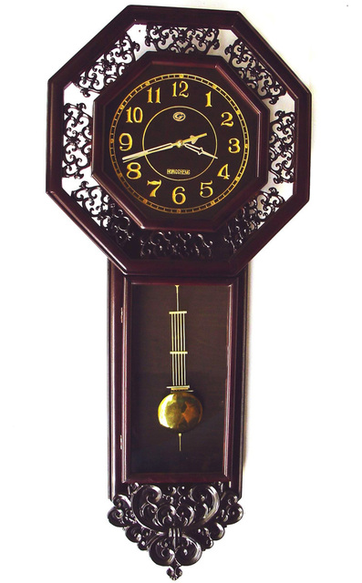European Swing Clock Decorative Grandfather Pendulum Wall