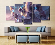 5 Piece Canvas League of Legends Game HD Print Paintings on Wall Art Home Decorations  Painting Artwork