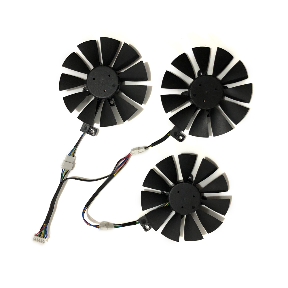 gtx1080 gtx980ti gtx1060 gtx1070 GPU VGA Graphics Cooler Fan For ASUS STRIX GTX 1070 1080 980Ti 1060 Video Cards Cooling System image