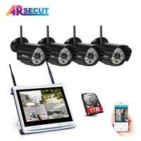 ARSECUT Plug And Play 4CH 960P Wireless NVR Kit Outdoor IR Night Vision Security IP Camera