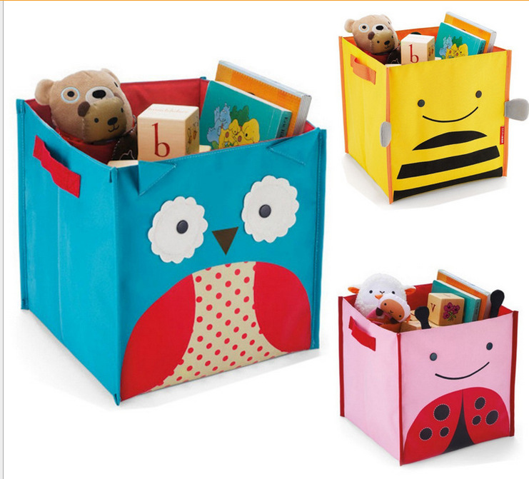 Cute Animal Collapsible Toy Storage Organizer Folding: Free Shipping Cute Animal Design Baby Children's Toys
