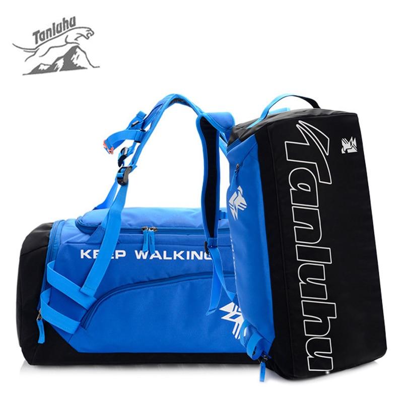 TANLUHU Gym Fitness Bag Men Outdoor Large Sports Handbag Travel Mountaineering Camping Backpack Portable Luggage Rucksack XA25WA