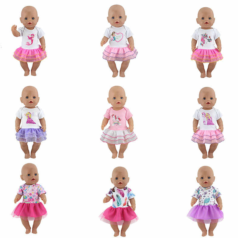 New Fashion Dress For 17 Inch  Baby Reborn Doll 43cm  Clothes