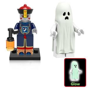 Image 4 - Halloween Mini zabawka rysunek dyniowa głowa duch Moster Fighter bezgłowy jeździec wampir Zombie klocki do budowy