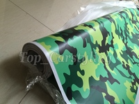 Small fluorescent green yellow Camouflage Vinyl Car Wrap Film Vehicle Covering With Air bubble PROTWRAPS SIZE 1.52X30M ROLL